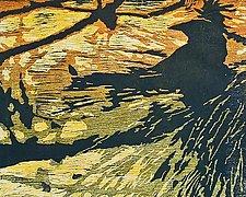 Scrub Jay by Midge Black (Woodcut Print)