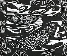 Oregon II by Midge Black (Linocut Print)