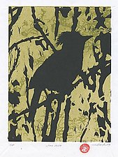Stellars Jay 3-10 by Midge Black (Woodcut Print)