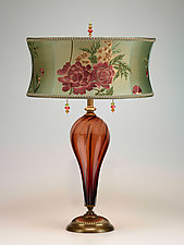 Rose Lamp by Susan Kinzig and Caryn Kinzig (Mixed-Media Table Lamp)