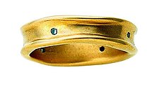 Curvy Ring by Diana Widman (Gold & Stone Ring)