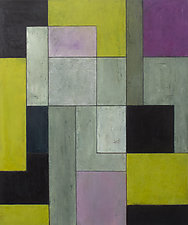 grey matters-chartreuse by Stephen Cimini (Oil Painting)