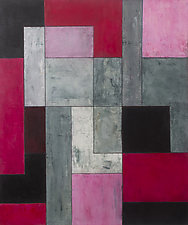 grey matters-shocking pink by Stephen Cimini (Oil Painting)
