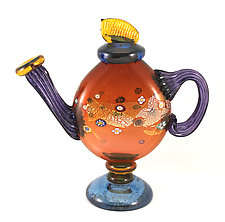 Aurora Blossom Teapot by Ken Hanson and Ingrid Hanson (Art Glass Teapot)
