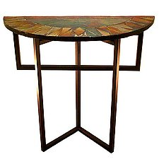 Radiance Foyer Table by Joel and Candace  Bless (Glass Console Table)