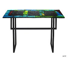 Rectangles Foyer Table by Joel and Candace  Bless (Art Glass Console Table)