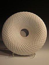 Flat White Pinecone by Michael Wisner (Ceramic Vessel)