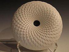 Small White Kauai Donut by Michael Wisner (Ceramic Vessel)