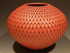 Red Artichoke by Michael Wisner (Ceramic Vase)