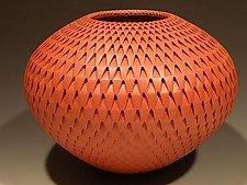 Red Artichoke by Michael Wisner (Ceramic Vase)