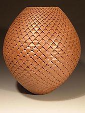Chocolate Pinecone by Michael Wisner (Ceramic Vase)