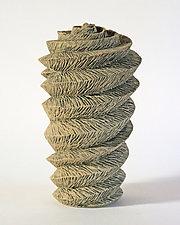 Cylinder VII by Emil Yanos (Ceramic Sculpture)