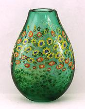 Island Vase Series Pouch - Kauai by Ken Hanson and Ingrid Hanson (Art Glass Vase)