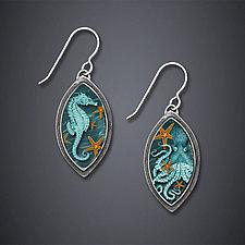20,000 Leagues Under the Sea Earrings by Dawn Estrin (Silver Earrings)