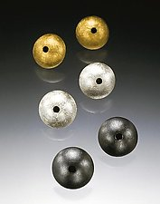 """Small Dome Earrings"" by Emanuela Aureli (Metal Earrings)"