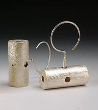 """Dangling Bar Earrings"" by Emanuela Aureli (Metal Earrings)"