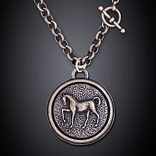 Euros Necklace by Dawn Estrin (Pewter Necklace)