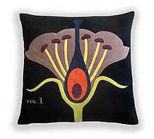 Botany Pillow by Heather Lins (Fiber Pillow)