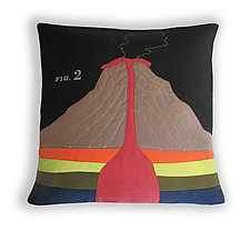 Geology Pillow by Heather Lins (Fiber Pillow)