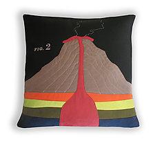 Geology Pillow by Heather Lins (Fiber Pillow)
