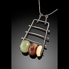 Vertical Climb Pendant by Erica Stankwytch Bailey (Silver & Stone Necklace)