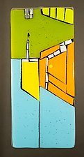 Tails End by Vicky Kokolski and Meg Branzetti (Art Glass Wall Sculpture)
