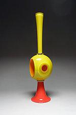 Yellow Dwelling Stack by Scott Summerfield (Art Glass Sculpture)