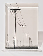 Telephone Poles by Paul Messink (Art Glass Sculpture)