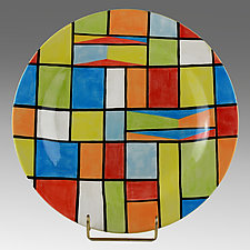 Square Dance by Rod  Hemming (Ceramic Platter)
