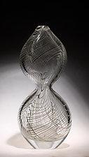 Figurative Folded Web by James Friedberg (Art Glass Sculpture)