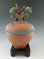 Acorn Box by Nancy Y. Adams (Ceramic Sculpture)