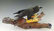 Raven Corn Sculpture by Nancy Y. Adams (Ceramic Sculpture)