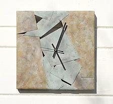 Square Scrap Wall Clock by David M Bowman and Reed C Bowman (Metal Clock)