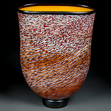 Litni Vyshni (Summer Cherries) Vase by Eric Bladholm (Art Glass Vessel)