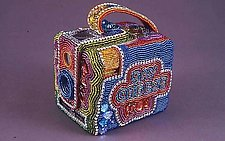 Hawkeye Brownie Camera by Kathy Wegman (Beaded Sculpture)