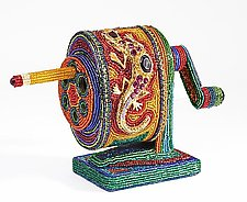 Pencil Sharpener by Kathy Wegman (Beaded Sculpture)