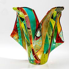 Tropical Forest by Varda Avnisan (Art Glass Vase)