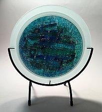 Blue Lake by Alicia Kelemen (Art Glass Sculpture)