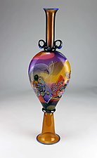 Color Field Amphora by Wes Hunting (Art Glass Sculpture)