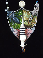 Queen Bee Necklace by Lisa and Scott  Cylinder (Metal Necklace)
