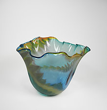Tulip Bowl by Mariel Waddell and Alexi Hunter (Art Glass Bowl)