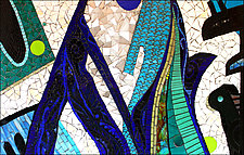 The Blues by Sandra Bryant and Carl Bryant (Art Glass Mosaic)