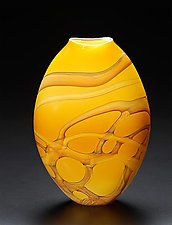 Gold Vine Pouch by John & Heather  Fields (Art Glass Vase)