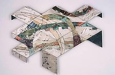 Terminal Flyer by Phyllis Pacin (Ceramic Wall Sculpture)