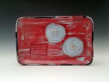 Red Blossom Tray by Whitney Smith (Ceramic Tray)