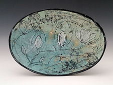 Magnolia Platter by Whitney Smith (Ceramic Platter)