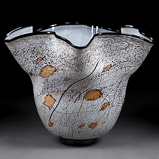 Autumn Abstract by Eric Bladholm (Art Glass Bowl)