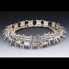 All Fall Down, 21 chair necklace by Rone' Prinz (Gold & Silver Necklace)