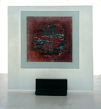 Burgundy Red I by Alicia Kelemen (Art Glass Sculpture- STUDIO SALE)