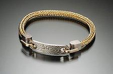 Mokume Gane ID Bracelet by Ann Cahoon (GOld & Silver Bracelet)